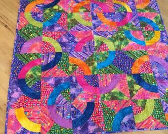 """Quilt, Lap Quilt Confetti Fun Colorful Lap Quilt 46"""" x 54"""" ON SALE"""
