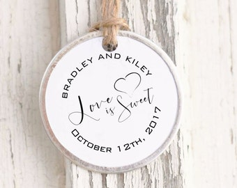 Wedding Favor Stamp, Wedding Stamp, Love is Sweet Stamp, Custom Wedding Self-Inking, Calligraphy Stamp- CS-10235
