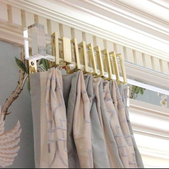 Rectangular Lucite Curtain Rod 48 117 Custom