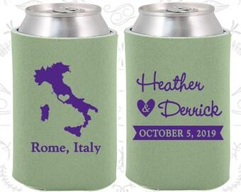 Italy Wedding Favors, Coolies, Destination Wedding Gift, Italy Wedding Shower, Travel Wedding Favors, Rome Wedding (181)