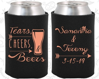 Tears, Cheers, Beers, Weddings, Arrow Wedding, Southern Wedding, Southern Favors, Can Cooler (287)