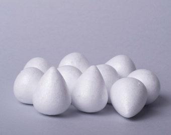 Egg-shaped foam base for a flower 28х35mm