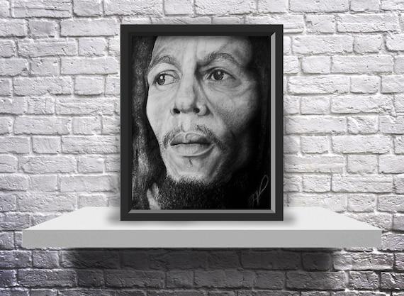 Bob Marley Drawing - 8X10 Print