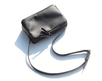 Black trapeze handbag
