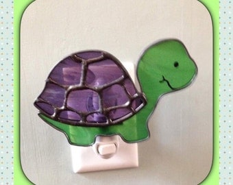 Turtle, Stained Glass Night Light, Sun Catcher or Garden Decor, Custom Made, Hand Made