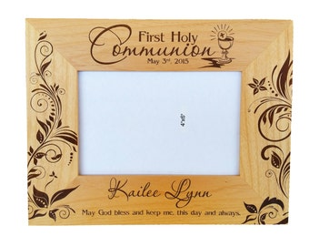 First Holy Communion - Personalized Picture Frame