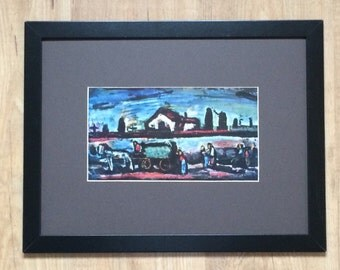 """Framed and Mounted The Funeral Print by Georges Rouault 16"""" x 12"""""""