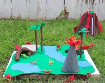 Volcano/Dinosaur Play Mat