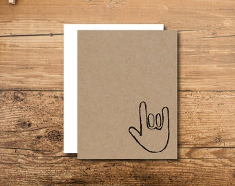 First Anniversary Card - I Love You Anniversary Card - Anniversary Card - Sign Language Anniversary Card - Love Anniversary Card