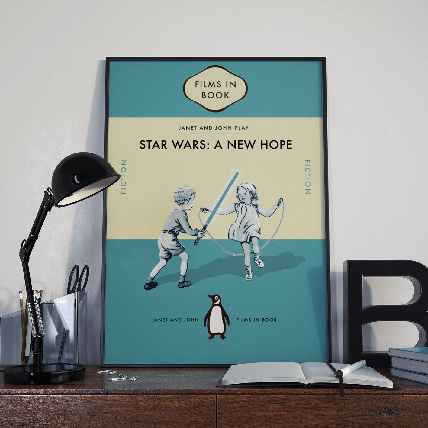 Star Wars Book Cover Art : Star wars penguin ladybird book cover art print