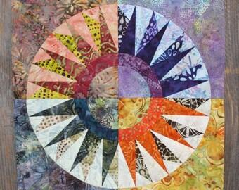 New York Beauty Quilt Block Paper Piecing Pattern - Block 3