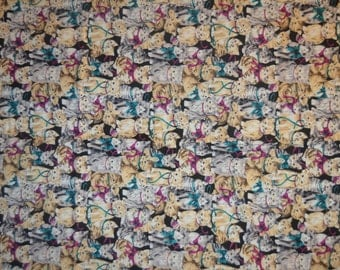 All Over Cat Fabric - 68 X 44 Inches