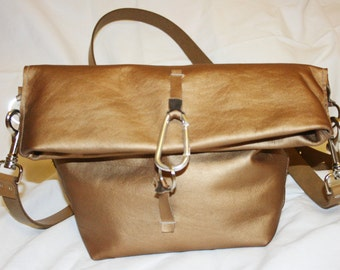 "Crossbody bag ""Goldbronze"""