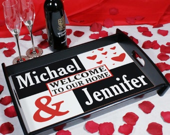 Personalized Just the Two of Us Serving Tray
