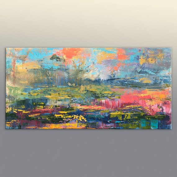 Original Abstract Painting Large Abstract Painting Kitchen