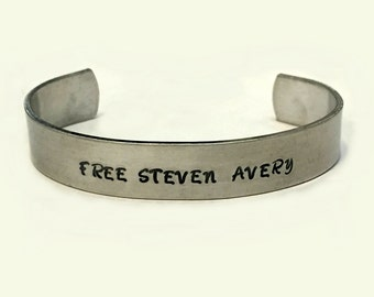 Free Steven Avery Support Bracelet / Portion of Sales Will Be Donated to Help Free Steven Avery / Making a Murderer
