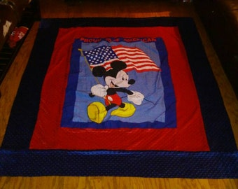 Mickey Mouse proud to be American. *patriotic mickey! Ready to ship ! Vintage fabric!