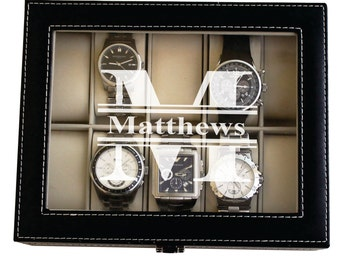 personalized watches mens watch box custom watch box mens watch case watch storage case personalized watch case watch box for men leather watch box