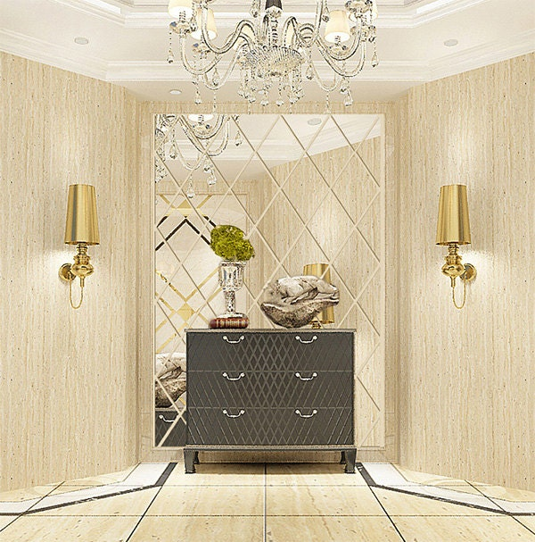 Diamond Shape Mirror Wall Decal Wall Sticker By Easywalldecals