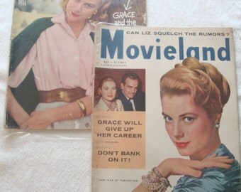 2 Vintage Movie Magazines Featuring Grace Kelly