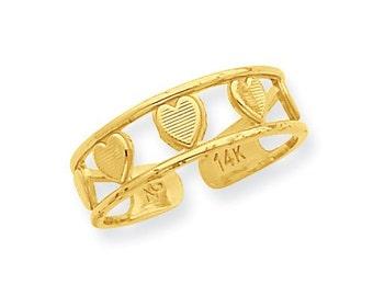 Multi Heart Toe Ring (JC-1117)
