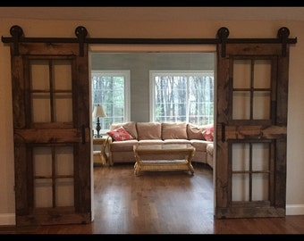 Custom french barn doors