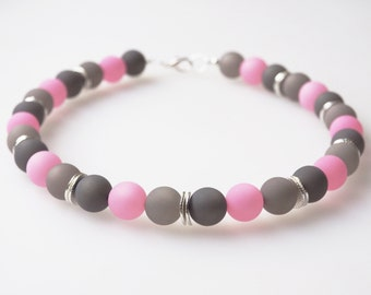 polaris necklace grey rose pink rosy