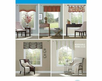 Simplicity 1383 OS Valances Window Curtain Sewing Patterns