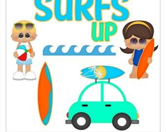 DIGITAL SCRAPBOOKING CLIPART - Surf's Up - Exclusive