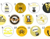 Hufflepuff Pins, Harry Potter Magnets, Hogwarts Button - 1 Inch pin or magnet - Hufflepuff, House Badge, Hogwarts House, Quidditch