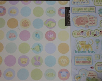 Baby theme scrapbook paper and stickers