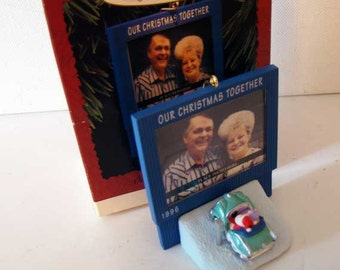 Hallmark Our Christmas Together ornament, Drive-in Movies ornament, 1996 Hallmark Our Christmas together drive-in movies ornament