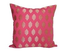 Pink and Gold Jewel -  Designer Pillow Cover - Made to Order - Choose Your Size