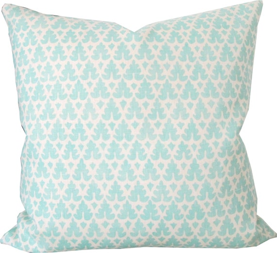 Queen Throw Pillows : High End Designer Decorative Pillow Cover-Quadrille-Volpi
