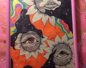 Flower Senses; ORIGINAL ILLUSTRATION