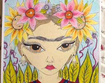 Flores de Frida; Limited Edition PRINT