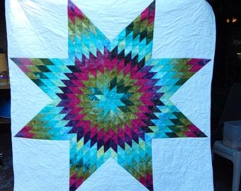 Handmade Lone Star Quilt