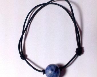 Lapis lazuli Adjustable Elastic Bracelet