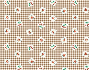 Apple Farm Picnic Brown by Elea Lutz for Penny Rose Fabrics C5451-Brown