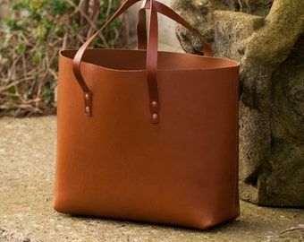 Everyday Leather Tote Bag - Hand stitched