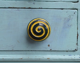 ceramic swirl cabinet knobs (pair)