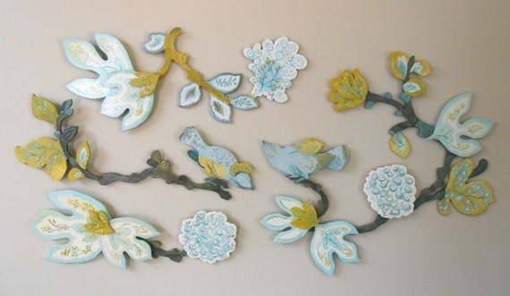 Honeymead birds wall sculpture by Kimberly Hodges, wood wall decor, cottage wall decor, french country wall decor, tahari birds,