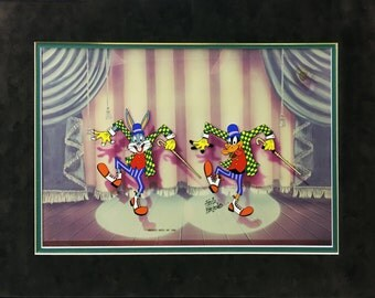 "Warner Bros ""The Entertainers"" - 1991 - Bugs Bunny - Signed by Friz Freleng - Hand Painted Cel - See Live at GallArt"