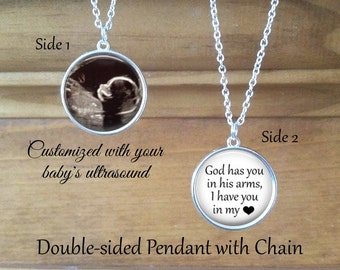 SALE! Miscarriage Keepsake Pendant - Personalized with Photo and Saying