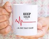 Gift for nurse, cardiac nurse, nurse gift, nurse graduation gift, nurse mug, rn mug, funny nurse mug, nurse instructor gift, wedding MU151