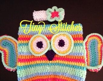 Owl Crochet Cocoon