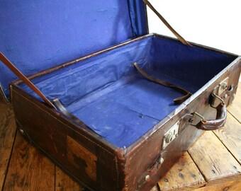 Beautiful large vintage suitcase