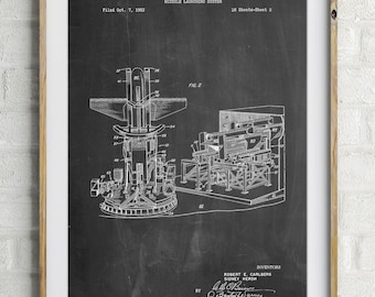 Missile Launching System patent 1961 Wall Art Poster, PP0959