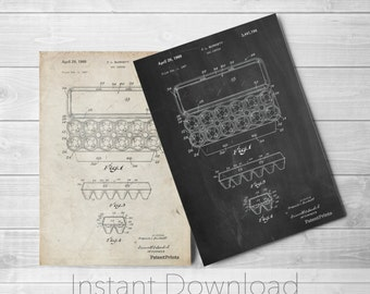 Kitchen Printables, Egg Carton Printables, Farmhouse Decor, Bakery Decor, Culinary Gift, PP0480