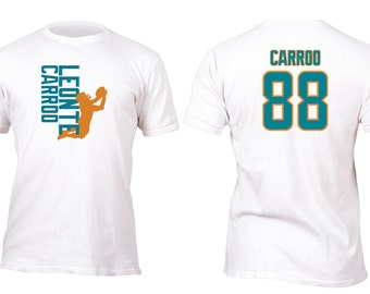 Limited Edition White Dolphins Carroo Opt 3 Football Shirt All sizes up to Plus 5x